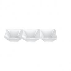 Naczynie na przystawki porcelanowe KUBIKO/FALA<br />model: 62361<br />producent: Ambition