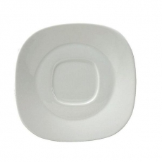 Spodek kwadratowy porcelanowy KUBIKO/FALA<br />model: 61232<br />producent: Ambition