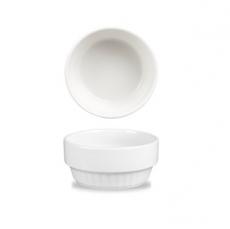 Salaterka porcelanowa ryflowana PROFILE<br />model: 293054<br />producent: Churchill