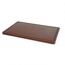 Deska z polietylenu brązowa HACCP GN 1/2<br />model: 826140<br />producent: Hendi