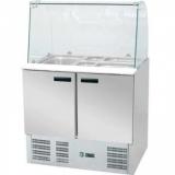 Lada chłodnicza sałatkowa 2-drzwiowa z  nadstawką EKO 842222