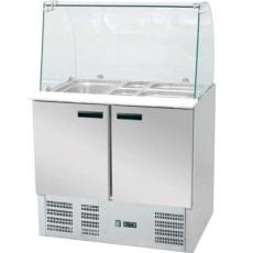 Lada chłodnicza sałatkowa 2-drzwiowa z  nadstawką<br />model: 842222/W<br />producent: Stalgast