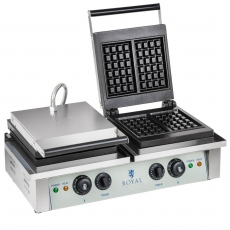 Gofrownica elektryczna podwójna RCWM-4000-E<br />model: 1315<br />producent: Royal Catering
