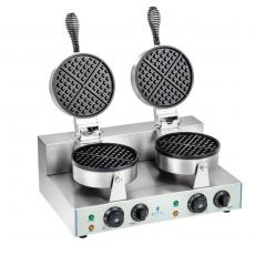 Gofrownica elektryczna okrągła podwójna RCWM-2600-E<br />model: 1316<br />producent: Royal Catering