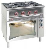 Kuchnia gastronomiczna gazowa 5-palnikowa z piekarnikiem / model - TG-5727/PKE-1