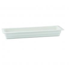Pojemnik GN 2/4 gł. 6,5 cm porcelanowy biały RAK<br />model: R-BUGN-24065-2<br />producent: Rak