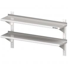 Półka nierdzewna wisząca podwójna<br />model: 610020<br />producent: Stalgast