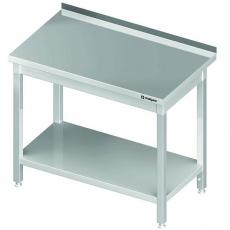 Stół roboczy nierdzewny z półką<br />model: 612307<br />producent: Stalgast