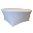 Pokrowiec na stół okrągły Maxchief biały BTO-0180-W