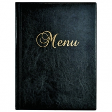Okładka na karty menu czarna<br />model: 290023<br />producent: Dajar