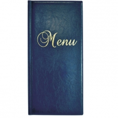 Okładka na karty menu granatowa<br />model: 290022<br />producent: Dajar