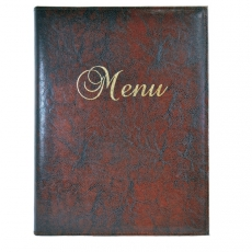 Okładka na karty menu brązowa<br />model: 290026<br />producent: Dajar