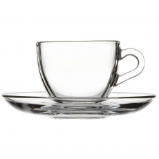 Filiżanka do espresso ze spodkiem<br />model: 400257<br />producent: Pasabahce