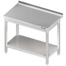 Stół roboczy nierdzewny z półką składany<br />model: 611386<br />producent: Stalgast