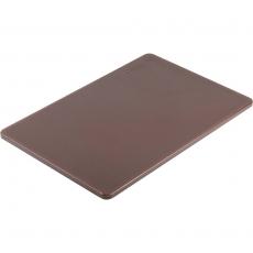 Deska z polietylenu HACCP brązowa<br />model: 341456<br />producent: Stalgast