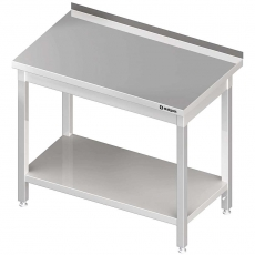 Stół roboczy nierdzewny z półką składany<br />model: 611307<br />producent: Stalgast