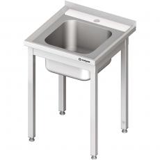 Stół ze zlewem nierdzewny składany<br />model: 613466<br />producent: Stalgast
