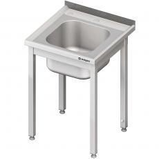 Stół ze zlewem nierdzewny składany<br />model: 611866<br />producent: Stalgast