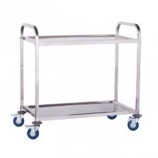 Wózek kelnerski nierdzewny 2-półkowy<br />model: 10010079<br />producent: Royal Catering