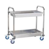 Wózek kelnerski nierdzewny 2-półkowy głęboki - 10010080