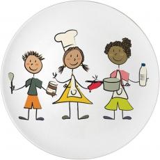 Talerz porcelanowy przedszkolny<br />model: 395950<br />producent: Stalgast