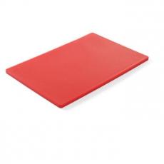 Deska z polietylenu HACCP czerwona<br />model: 825525<br />producent: Hendi