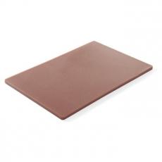 Deska z polietylenu HACCP brązowa<br />model: 825556<br />producent: Hendi