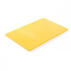 Deska z polietylenu HACCP żółta<br />model: 825563<br />producent: Hendi