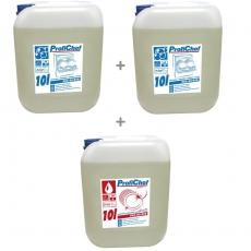 Zestaw płynów do obsługi zmywarek gastronomicznych - duży | ProfiChef<br />model: PCC-01/010x2+PCC-02/010<br />producent: ProfiChef