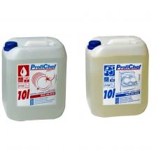 Zestaw płynów do obsługi zmywarek gastronomicznych - średni | ProfiChef<br />model: PCC-01/010+PCC-02/010<br />producent: ProfiChef