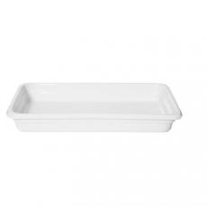 Pojemnik GN 1/1 gł. 6,5 cm porcelanowy biały PROFI LINE<br />model: 783009<br />producent: Hendi