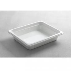 Pojemnik GN 1/2 gł. 6,5 cm porcelanowy biały PROFI LINE<br />model: 783016<br />producent: Hendi