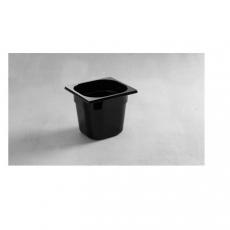 Pojemnik GN 1/6 gł. 10 cm z czarnego poliwęglanu<br />model: 862728<br />producent: Hendi