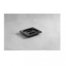Pokrywka GN 1/6 z czarnego poliwęglanu<br />model: 862957<br />producent: Hendi