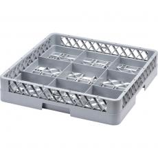 Kosz do zmywarek do szkła 9 pozycji<br />model: 810900<br />producent: Stalgast