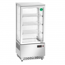 Witryna chłodnicza Mini 78L stal nierdzewna<br />model: 700478G<br />producent: Bartscher