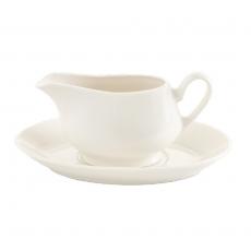 Spodek porcelanowy do sosjerki CREMA<br />model: 770634<br />producent: Fine Dine