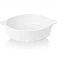 Naczynie do zapiekania owalne z uchwytami porcelanowe BIANCO<br />model: 770238<br />producent: Fine Dine
