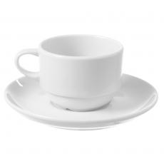 Filiżanka sztaplowana ze spodkiem porcelanowa BIANCO<br />model: 799352<br />producent: Fine Dine