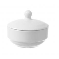 Cukiernica z pokrywką porcelanowa BIANCO<br />model: 799338<br />producent: Fine Dine