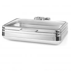 Podgrzewacz stołowy indukcyjny GN 1/1 ze szklaną pokrywą DE LUXE<br />model: 473108<br />producent: Fine Dine