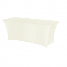 Pokrowiec na stół prostokątny SYMPOSIUM kremowy<br />model: 900662<br />producent: Fine Dine