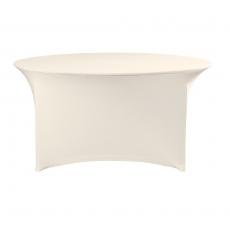 Pokrowiec na stół okrągły SYMPOSIUM kremowy<br />model: 900802<br />producent: Fine Dine