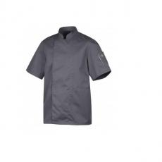 Bluza kucharska Nero antracyt krótki rękaw XXL<br />model: U-NE-GTS-XXL<br />producent: Robur