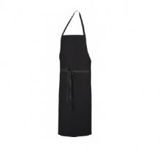 Fartuch kuchenny czarny Pise<br />model: U-PI-B <br />producent: Robur