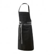 Fartuch kuchenny czarny Uvali<br />model: U-UV-B<br />producent: Robur