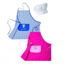 Zestaw kucharski dziecięcy z niebieskim fartuchem<br />model: U-KD-BLUE<br />producent: Robur