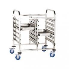 Wózek nierdzewny składany do tac i pojemników GN<br />model: 810569<br />producent: Hendi