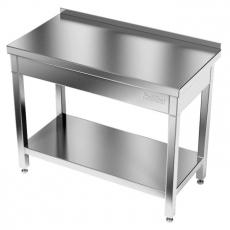 Stół roboczy nierdzewny z półką<br />model: E1040/1400/600<br />producent: ProfiChef