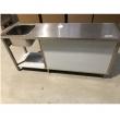 Stół nierdzewny ze zlewem 1-komorowym i szafką 180x60x85 cm  - E2105/1800/600/L/E81